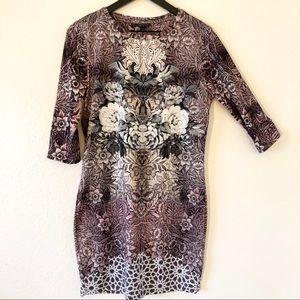 Topshop Bodycon printed dress